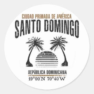 Pegatina Redonda Santo Domingo