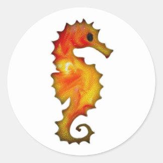 Pegatina Redonda Seahorse