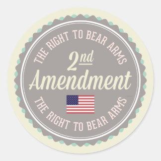 Pegatina Redonda Segunda enmienda
