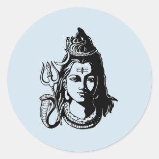 Pegatina Redonda Señor Shiva