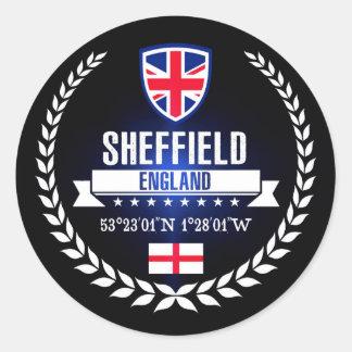 Pegatina Redonda Sheffield