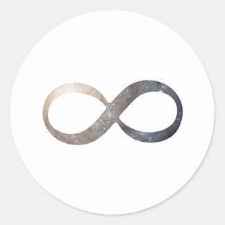 Pegatina Redonda Símbolo del infinito