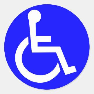 Pegatina Redonda Símbolo internacional del acceso