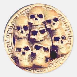 Pegatina Redonda Skullz