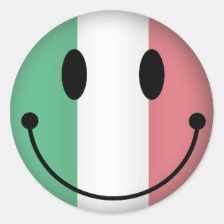 Pegatina Redonda Smiley de Italia