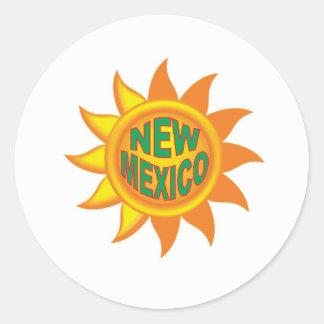 Pegatina Redonda Sol de New México