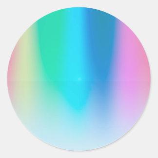 Pegatina Redonda Sombras artísticas del color: Herramientas de