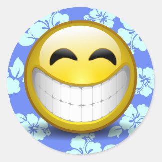 Pegatina Redonda Sonrisa grande