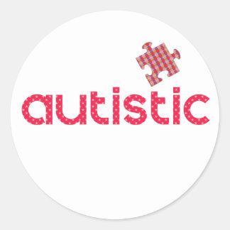 Pegatina Redonda Soy autístico