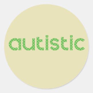 Pegatina Redonda Soy conciencia autística