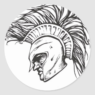 Pegatina Redonda Spartans