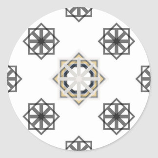 Pegatina Redonda spirograph-multiple-shapes3-35