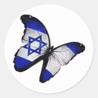Pegatina Redonda Star of David Butterfly