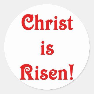 Pegatina Redonda Suben a Cristo
