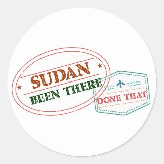 Pegatina Redonda Sudán allí hecho eso