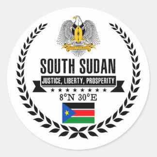 Pegatina Redonda Sudán del sur