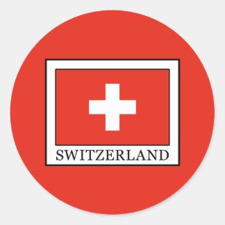 Pegatina Redonda Suiza