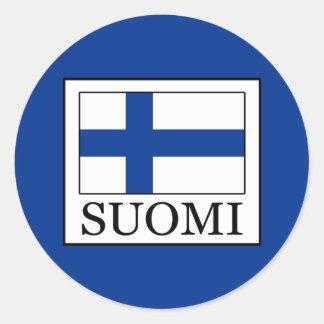 Pegatina Redonda Suomi