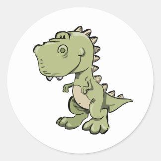 Pegatina Redonda T-Rex