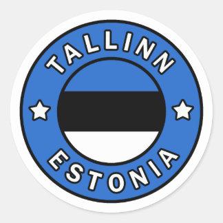 Pegatina Redonda Tallinn Estonia