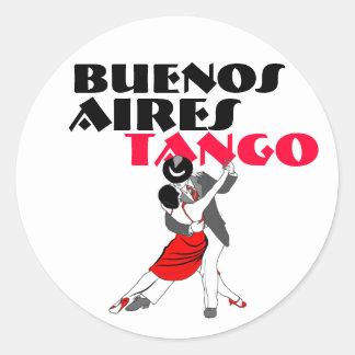 Pegatina Redonda Tango de Buenos Aires