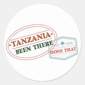 Pegatina Redonda Tanzania allí hecho eso
