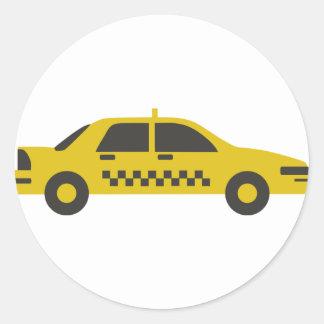 Pegatina Redonda Taxi de Nueva York