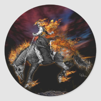 Pegatina Redonda Tejas Ghost Rider