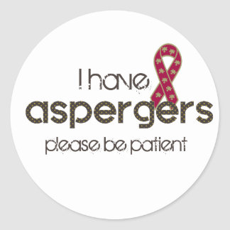 Pegatina Redonda Tengo Aspergers