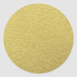 Pegatina Redonda Textura del fondo de la hoja de oro