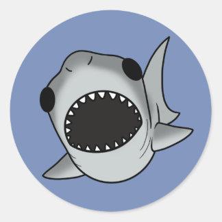 Pegatina Redonda Tiburón tonto