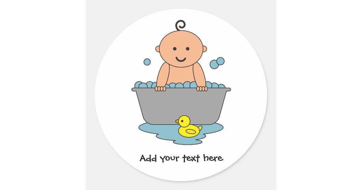 Pegatina redonda tiempo del ba o del beb - Temperatura bano bebe ...