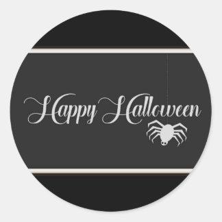 Pegatina Redonda Tipografía del feliz Halloween