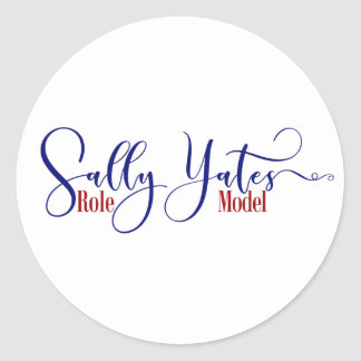 """Pegatina Redonda """"Tipografía del modelo de Sally Yates"""", 3"""