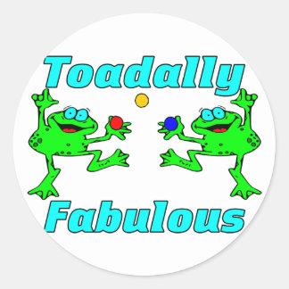 Pegatina Redonda Toadally fabuloso