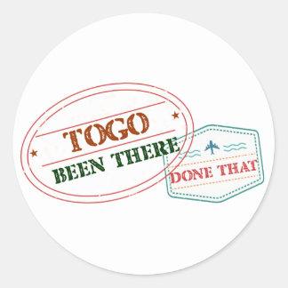 Pegatina Redonda Togo allí hecho eso