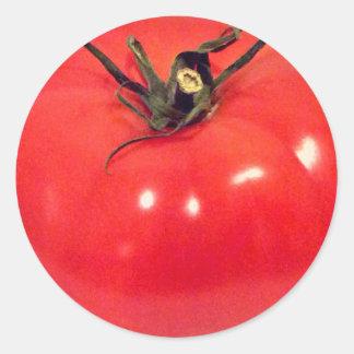 Pegatina Redonda Tomate colorido 4Stephanie de Scrummy