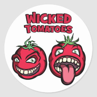 Pegatina Redonda Tomates traviesos