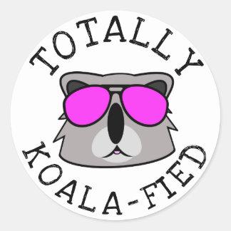 Pegatina Redonda Totalmente Koalafied
