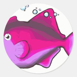 Pegatina Redonda ¡Triggerfish!