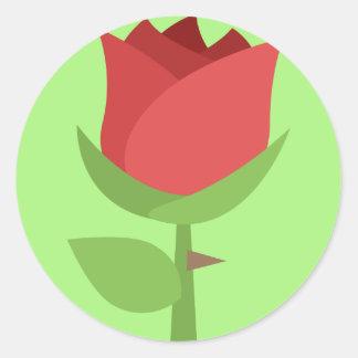 Pegatina Redonda Tulipán Emoji