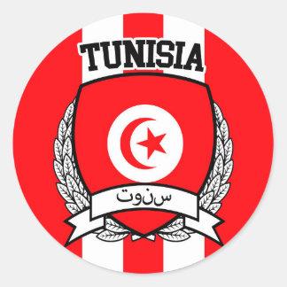 Pegatina Redonda Túnez