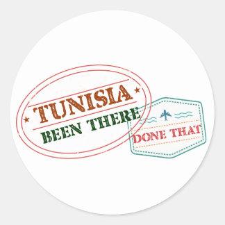 Pegatina Redonda Túnez allí hecho eso