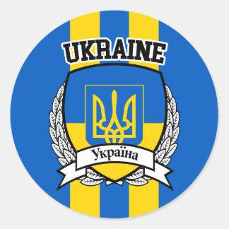 Pegatina Redonda Ucrania