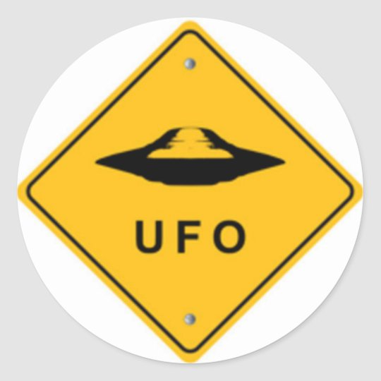 PEGATINA REDONDA UFO