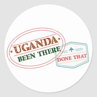 Pegatina Redonda Uganda allí hecho eso