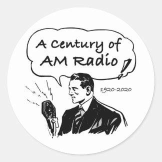 Pegatina Redonda Un siglo de radio de la