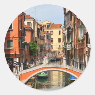 Pegatina Redonda Venecia, Italia