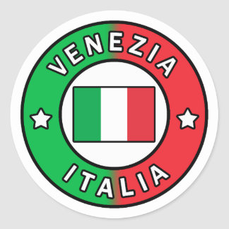 Pegatina Redonda Venezia Italia