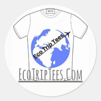 Pegatina Redonda Viaje Esticker de Eco